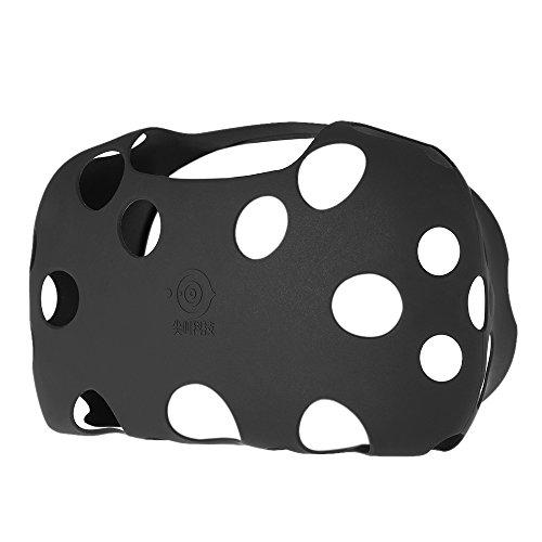 Docooler Estuche de Caucho de Silicona Suave al Tacto de 1 Pieza para HTC VIVE VR Auriculares de realidad virtual Negro