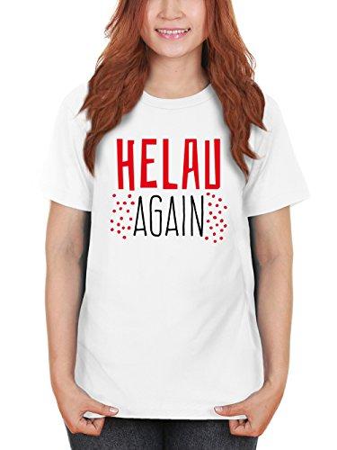 clothinx Damen T-Shirt Karneval Helau Again Weiß