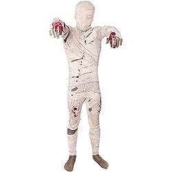Momia - Morphsuit para Niños - Disfraz Childern Fantasía - Pequeño - Edad 6-8 (102-118cm)