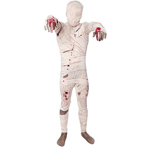 Morphsuits KPMUM - Mumie Halloween Kinder Kostüm, 119-136 cm, Größe M (Morphsuit Für Frauen)
