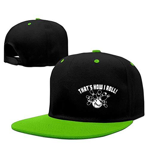 CHKWYN Men&Women Bowling That's How I Roll Visor Hats Adjustable Plaid Womens Visor