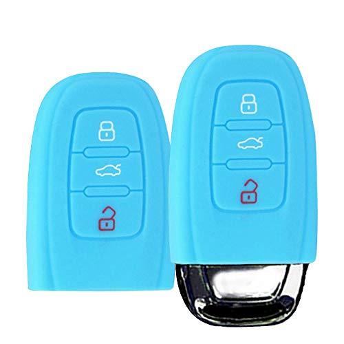 Noir Happyit 2pcs Housse de Protection en Silicone pour Mercedes Benz Classe de Voiture B C E S GLK300 E260L CLA CLS ML GLA GLK GLC 3 Boutons /à cl/é /à Distance