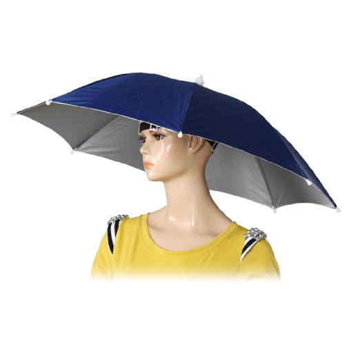 """TOOGOO(R)26"""" Durchmesser Elastisches Band Kopfdeckung Angeln Regenschirm Muetze - Dunkelblau"""