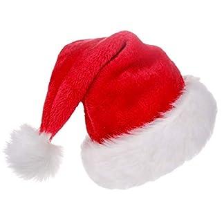 Jonami 1 Gorro de Papa Noel, Gorros Navideño y Sombreros de Santa Claus Tradicionales Rojos y Blanco. Accesorios de Navidad para Regalos de Festividad