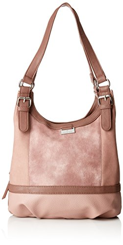 TOM TAILOR Shopper Damen, Juna, , Rot (Rose), 14x29x31 cm,  TOM TAILOR Schultertasche, Handtaschen Damen -