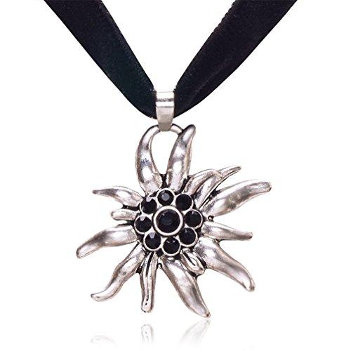 Jane-Stone-Damen-Halskette-Trachtenschmuck-kropfband-schwarz-Halsband-aus-Strass-Samt-und-Metalllegierung