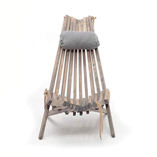 Chaise Pliante en Bois Massif Confortable (Taille : 50 * 111 * 92CM)
