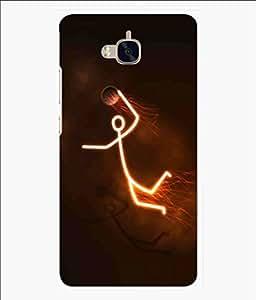 Snooky Printed Burning Man Mobile Back Cover of Huawei Enjoy 5 - Brown