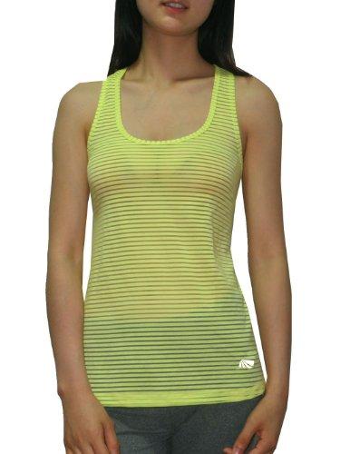 Marika Damen Dry-Wik Leistungs Yoga / Running Sports Tank Top Gelb
