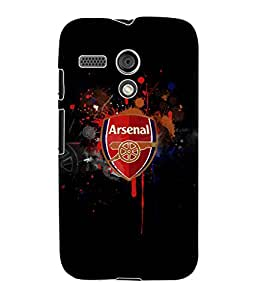 Fuson 3D Printed Arsenal Logo Designer Back Case Cover for Motorola Moto G - D804