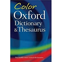 Color Oxford Dictionary and Thesaurus