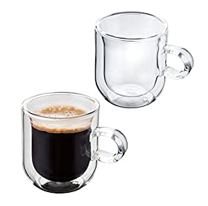 Judge Hand Crafted Double Walled Set of 2 75ml Glass Coffee Espresso Cup (Set of 2)