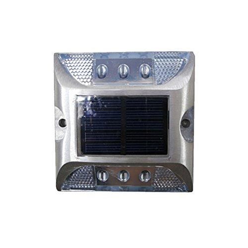Uonlytech Solar Pathway Marker LED Dock Licht wasserdicht Sicherheit Warnleuchten weiße LED-Licht Straße Stud Licht für Patio Yard Home Pathway Treppen Garten -