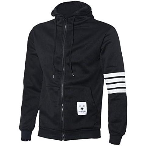 Ropa de abrigo para hombre, RETUROM Caliente venta nuevo estilo de moda hombres sudadera con capucha cremallera con capucha chaquetas