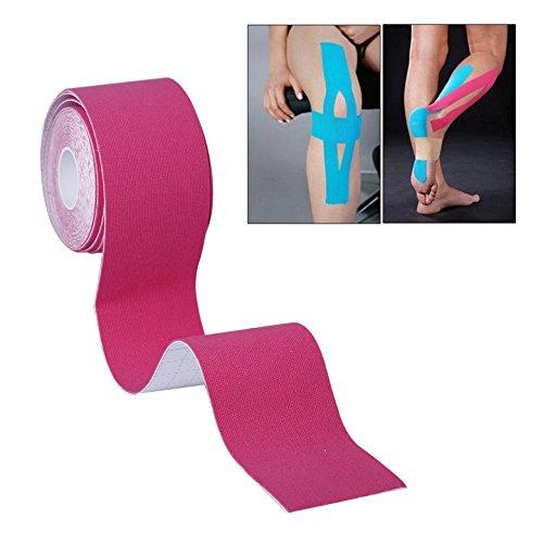 KUNFO Musculus Fix Kinesiology Tape - Band Therapeutische-Sports für die Schulter, das Knie, Ellbogen, die Knöchel und Hals (5 m * 5 cm.) -garantie vom Hersteller, Pinkj, 5 m x 5 cm Manufacturer: KUNFO (Knie-band Therapeutische)