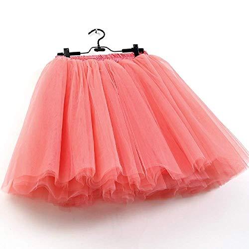 Röcke Frauen 7 Schichten Midi Tüll Rock Mode Tutu Röcke Frauen Ballkleid Party Petticoat Belly Dance Satin