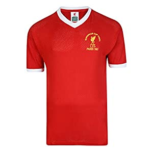 Official Retro Liverpool FC 1981 European Cup Final Retro Shirt 100% COTTON by Score Draw