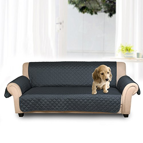 KINLO Cubre sofá/Funda de sofá/Protector para sofás Anti sucio, Evitar el rascado para mascota -- 3 plazas(167cm*165cm),Ambos lados están disponibles(Azul oscuro / Azul claro)