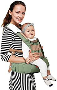LuvLap Royal Baby Hip Seat Carrier with 4 Carry Positions, for 6 to 36 Months, Max Weight Up to 12 Kgs (Green)