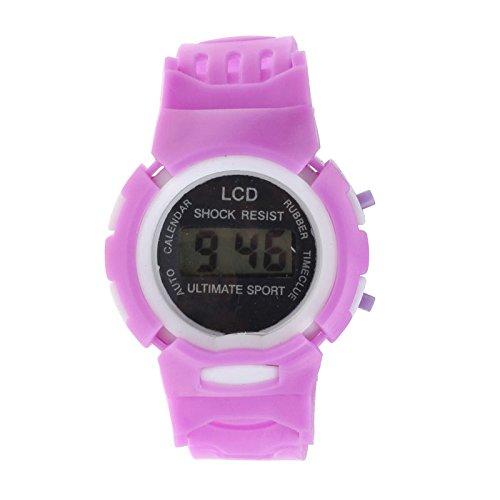 Mädchen Elektronische Digital LCD Sportuhr in Pink