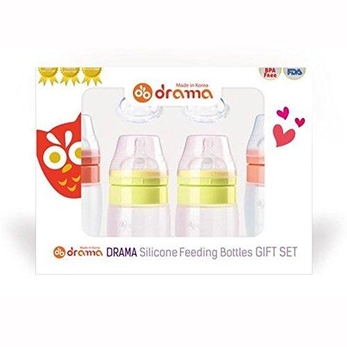 Drama Silikon Füttern Flaschen Geschenk-Set Baby Pink Lime Flasche 200ml/320ml nurshing Nippel Schnuller BPA-frei Korea
