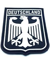 Escudo de armas águila imperial, negro, PVC, parche Alemania