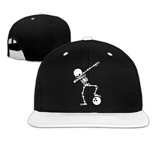 Skeleton Dabbing Bowling Ball Unisex Hip-Hop Flatbrim Snapback Caps Women Men Contrast Color Baseball Cap -