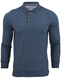 Hommes Polo T-Shirt par Brave Soul 'Lincoln' Pique Manche Longue