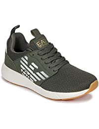 Emporio Armani EA7 Fusion Racer Sneakers Uomini Verde Foresta Sneakers Basse 5f2b37483f3