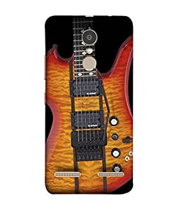 Lenovo K6 Back Cover Electric Guitar On The Black Background Design From FUSON