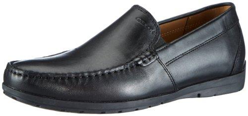 Geox - u simon c, mocassini uomo, nero (black c9999), 44 eu