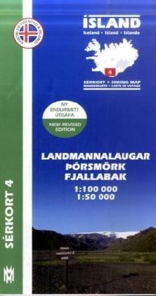 Landmannalaugar - Porsmörk, Fjallabak 1 : 100 000 par Mal Og Menning