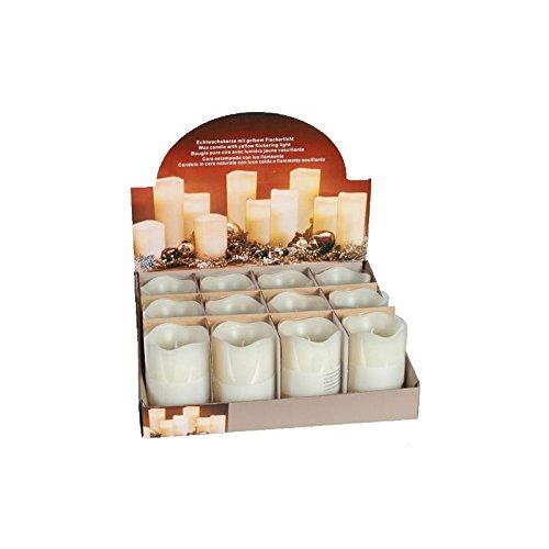 Vela con LED–vela natural–Blanco crema