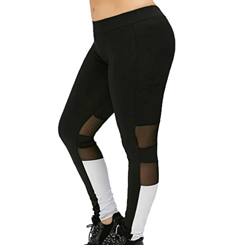 OverDose leggings mujer deporte malla empalmando pantalones