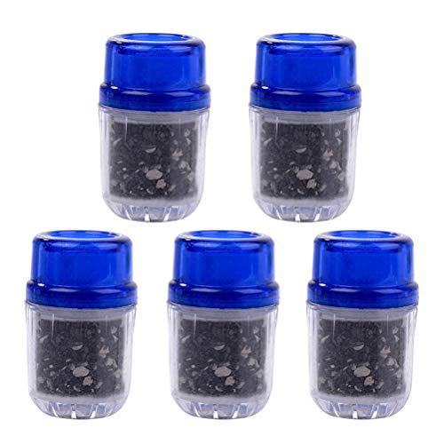 BESTONZON 5PCS acqua rubinetto carbone attivo Purificatore acqua filtro testa purificatore dacqua per uso domestico cucina