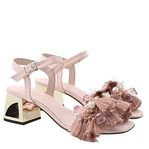 Sandal Sukie, 41, Powder pink Jewel Strap Sandal