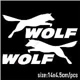 autocollant mural stickers muraux chambre Loup loup autocollants de voiture rétroviseur sport chiens autocollant animal