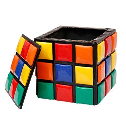 Tabouret de Stockage de Cube de Rubik Tabouret de Stockage créatif Chaussure de Changement de Mode Banc de Rangement PU Tabouret Enfant Cartoon,A_31*31 * 31cm