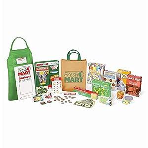 Melissa & Doug Fresh Mart Grocery Store Food and Role Play Companion Set (84 pcs) Tienda de Comestibles Frescos, Multicolor (15183)