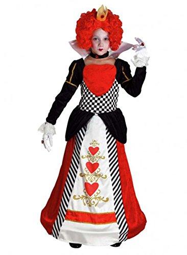 igin der Herzen Kinderkostüm, Größe:140 (Queen Of Hearts Halloween-kostüme Für Mädchen)
