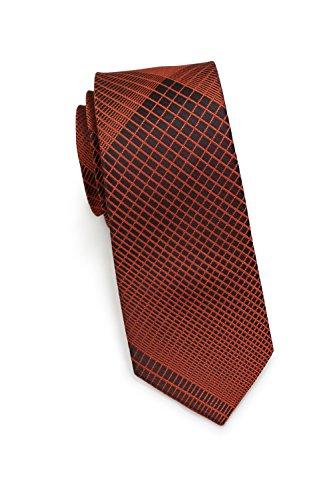 PUCCINI schmale Krawatte│6 cm skinny slim│modernes Muster in verschiedenen Farben │ Handarbeit