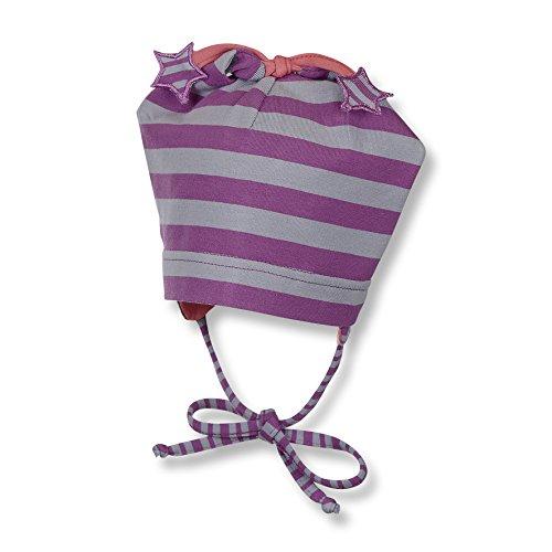 Sterntaler Baby-Mädchen Zipfelmütze Mütze, Violett (Orchidee 677), 43 Orchidee-band