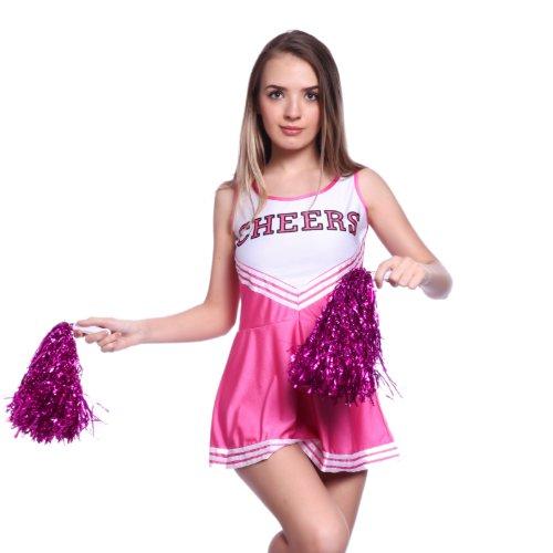 Anladia Mädchen Cheerleader Kostüm Dame Halloween Kostüm