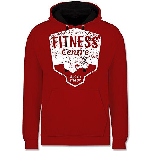 CrossFit & Workout - Fitness Centre - Kontrast Hoodie Rot/Schwarz