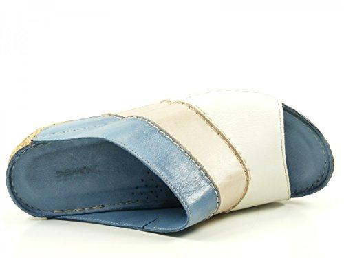 Gemini 32004-02 Schuhe Damen Sandalen Pantoletten Clogs Blau