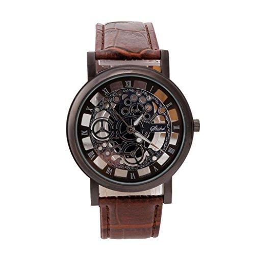 Yogogo Herren Quartz Analog Armband , 1 Cent Artikel Armbanduhr | Lederband | Dekoration | Sportuhr | Militär | Wasserdicht | Geschenk | Alugehäuse | Quarzwerk | 20mm Bandbreite | 25cm Bandlänge (Schwarz)
