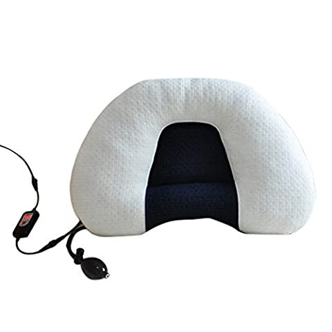 Heated Cervical Massage Pillow Memory Foam Cushion Pillows Adjustable Temperature and Timing (Apple Shape-air