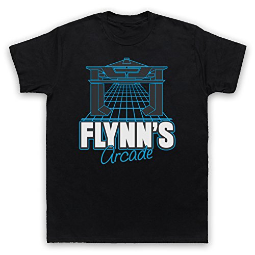 Tron Flynns Arcade Herren T-Shirt, Schwarz, Large (Tron T-shirt)
