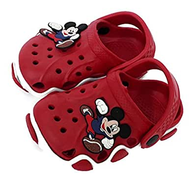 NEW AMERICAN Attractive Red Clogs for Kids (18 EU (Age 6 to 12 Month, RED)