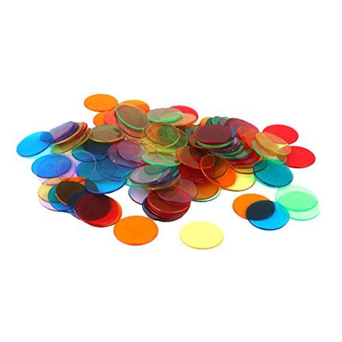 120pcs Chips Fichas Marcadores Juego Bingo 6 Colores
